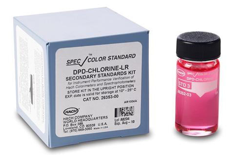 Bộ kit dùng kiểm chuẩn, SpecCheck Secondary Gel Standards Set, DPD Chlorine – LR